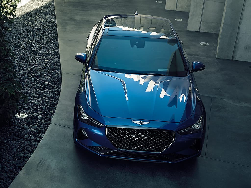 2019 Genesis G70 Blue Exterior Front Picture