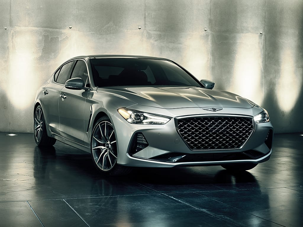 2019 Genesis G70 Silver Exterior Front Picture