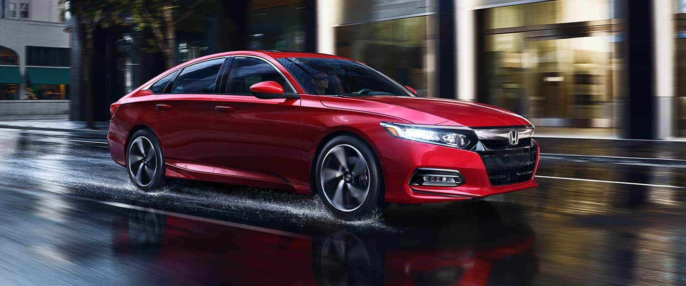 2019 Honda Accord Sedan Red Exterior Side Picture