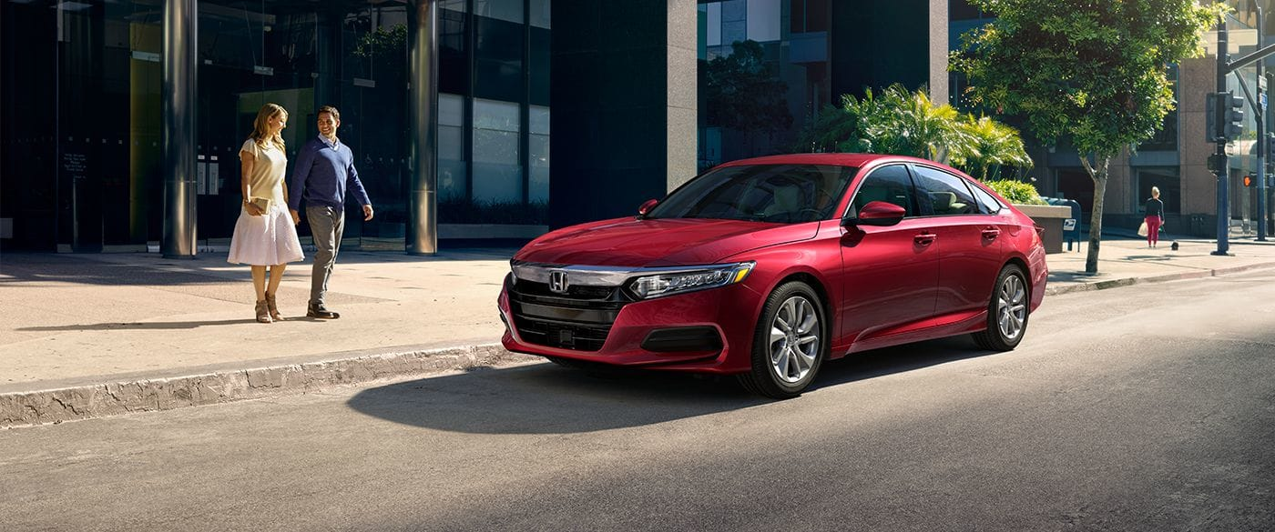 2019 Honda Accord Sedan Red Exterior Side View Picture