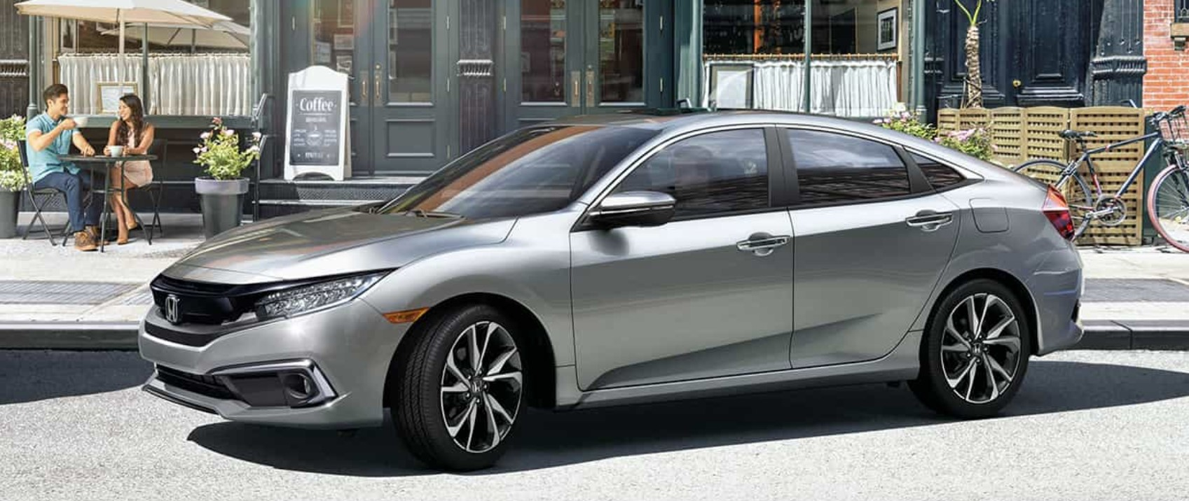2019 Honda Civic Sedan Gray Parking Exterior