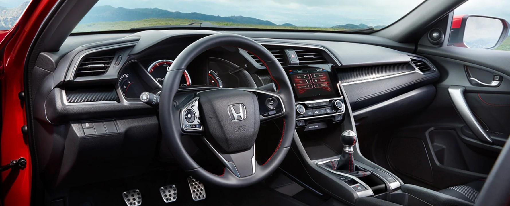 2019 Honda Civic Si Coupe Black and Red Interior