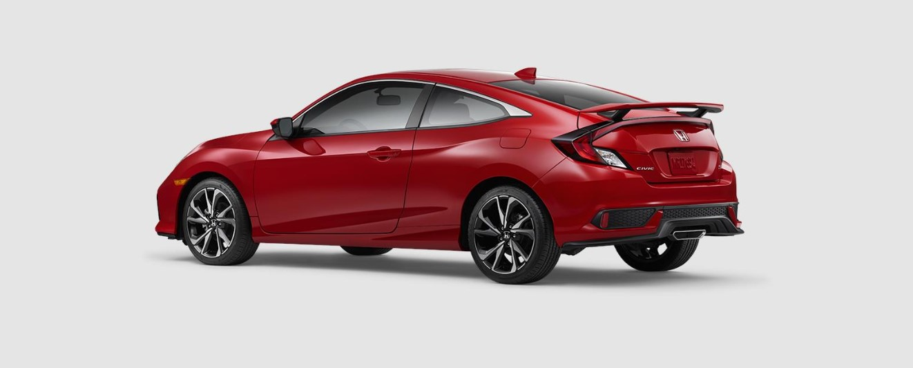 2019 Honda Civic Si Coupe Rear Red Exterior