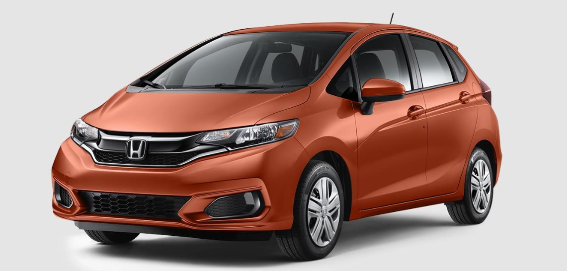 2019 Honda Fit LX Front Orange Exterior