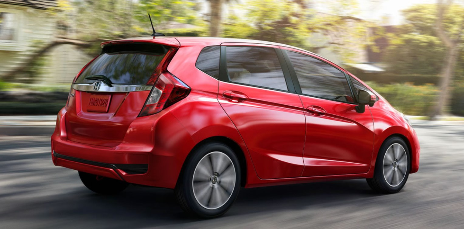 2019 Honda Fit Red Exterior Side
