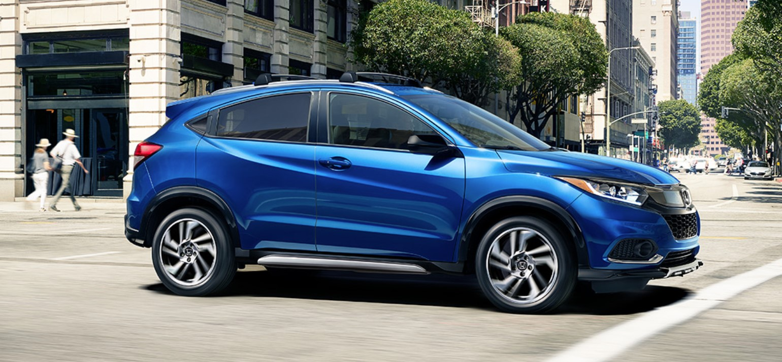 2019 Honda HR-V Driving Blue Exterior
