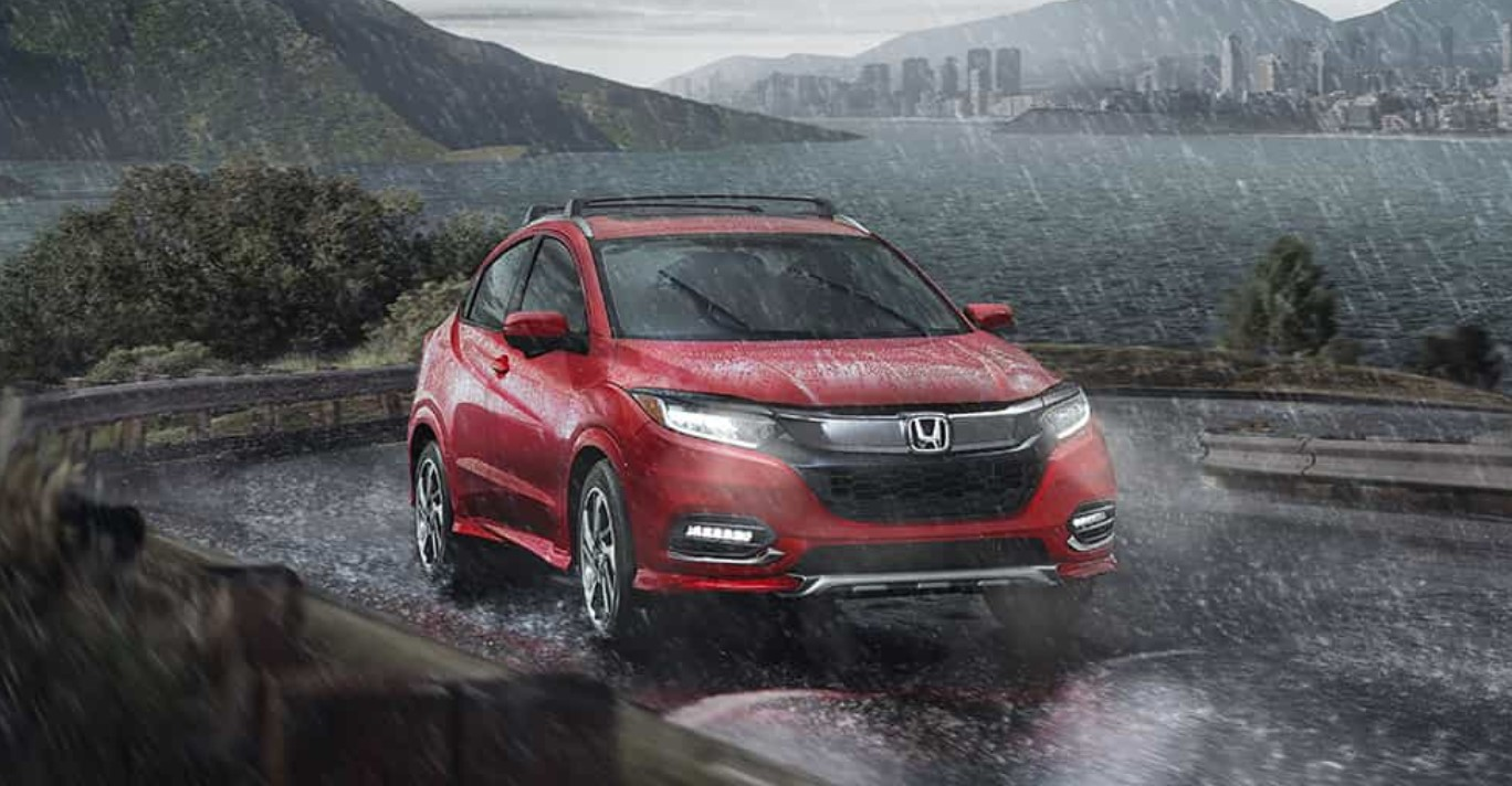 2019 Honda HR-V Driving Red Exterior