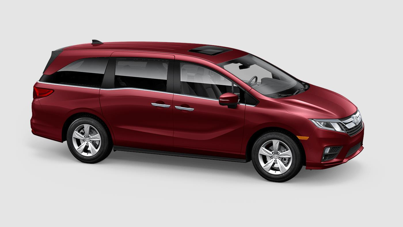 2019 Honda Odyssey EX-L Red Exterior Side View Picture