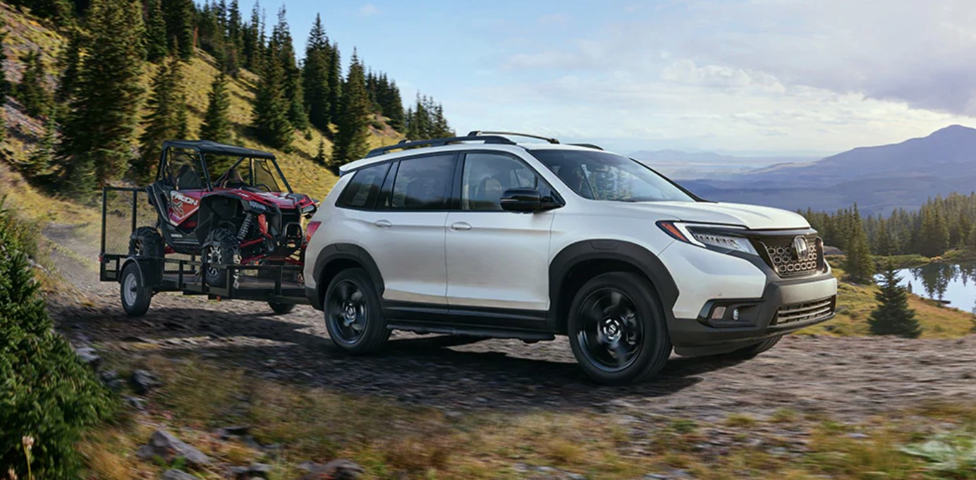 2019 Honda Passport White Towing Exterior
