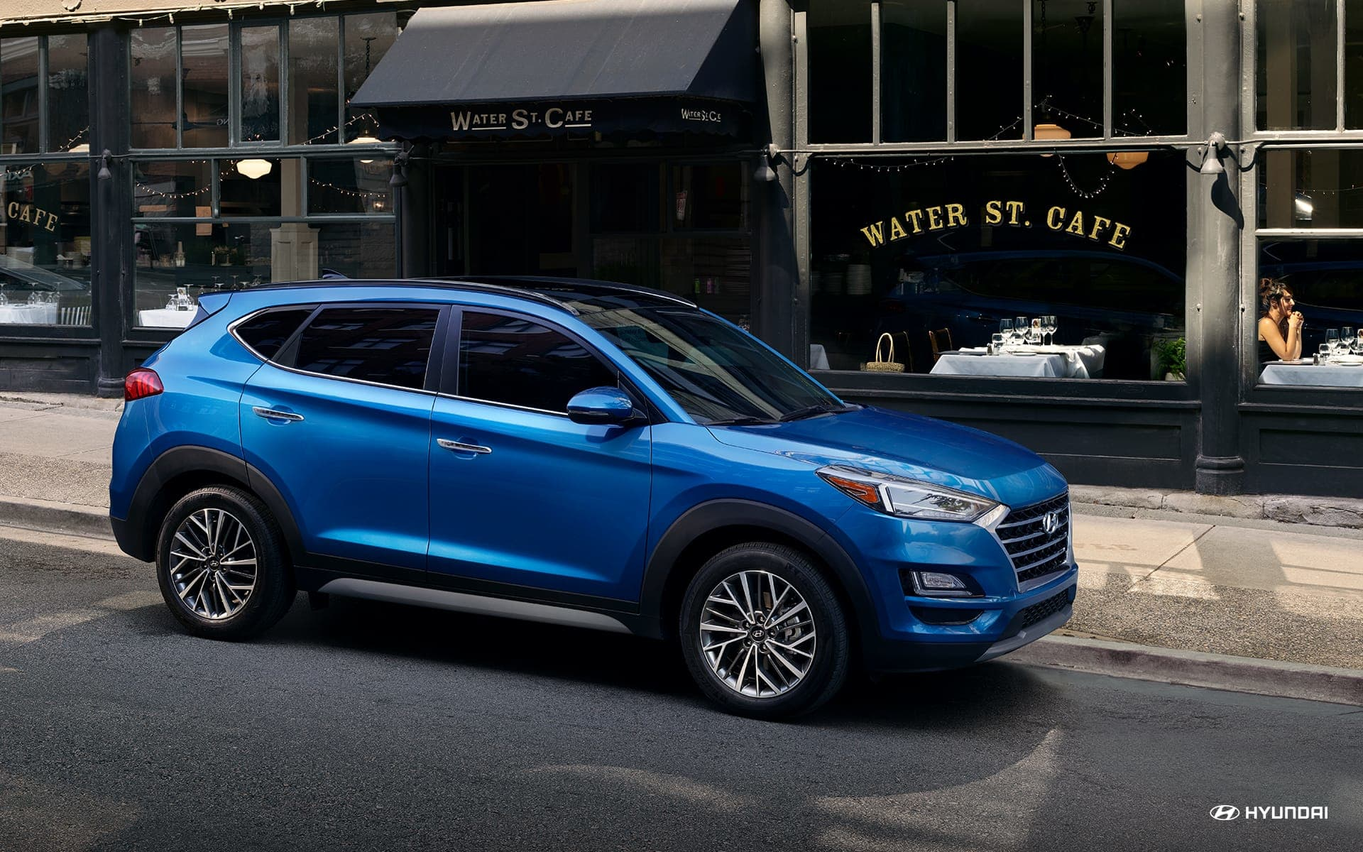 2019 Hyundai Tucson Blue Side Exterior Picture