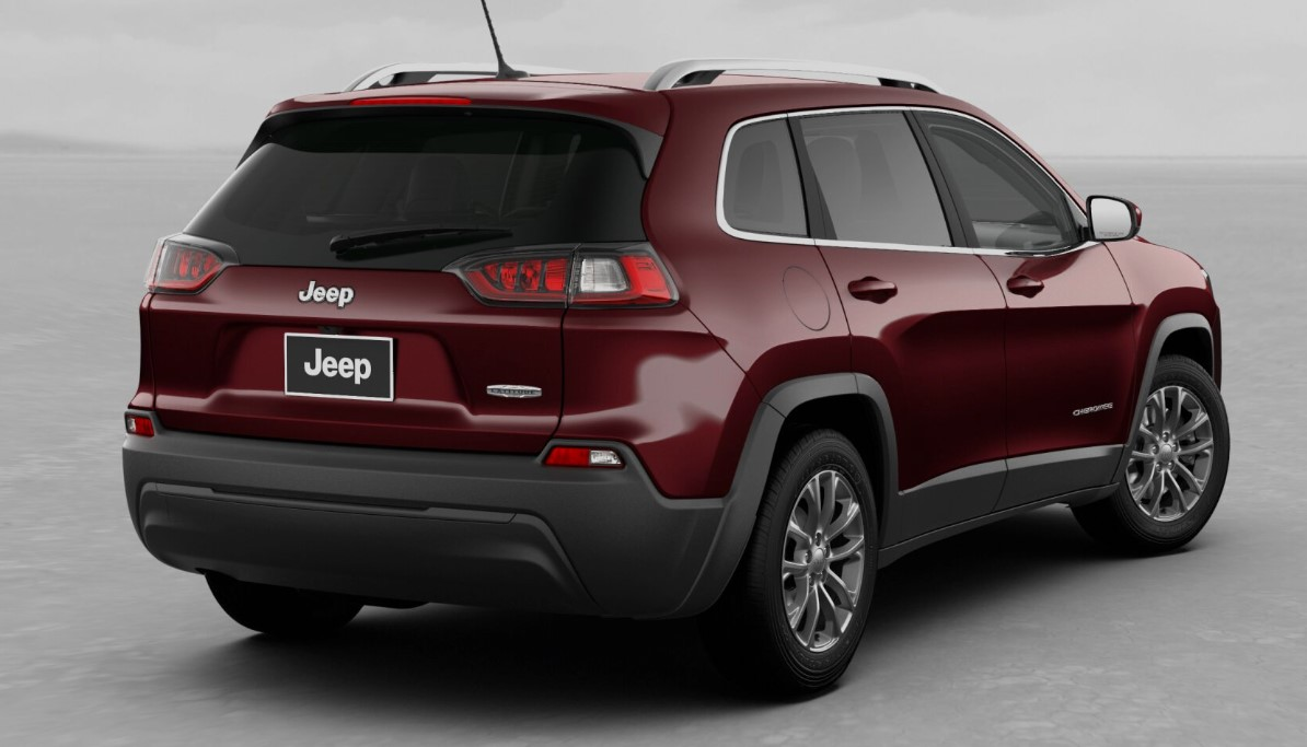 2019 Jeep Cherokee Latitude Plus Rear Red Exterior Picture