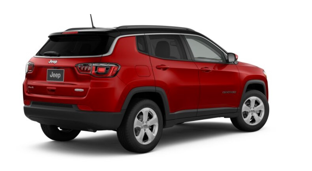 2019 Jeep Compass Latitude Rear Red Exterior