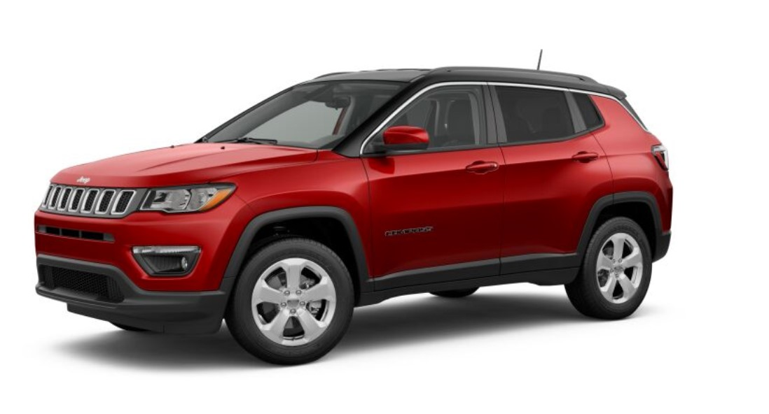 2019 Jeep Compass Latitude Front Red Exterior