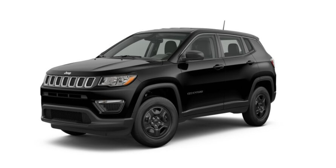 2019 Jeep Compass Sport Black Front Exterior