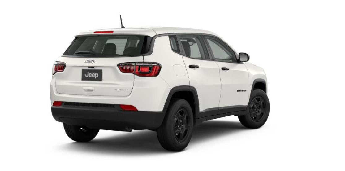 2019 Jeep Compass Sport White Rear Exterior