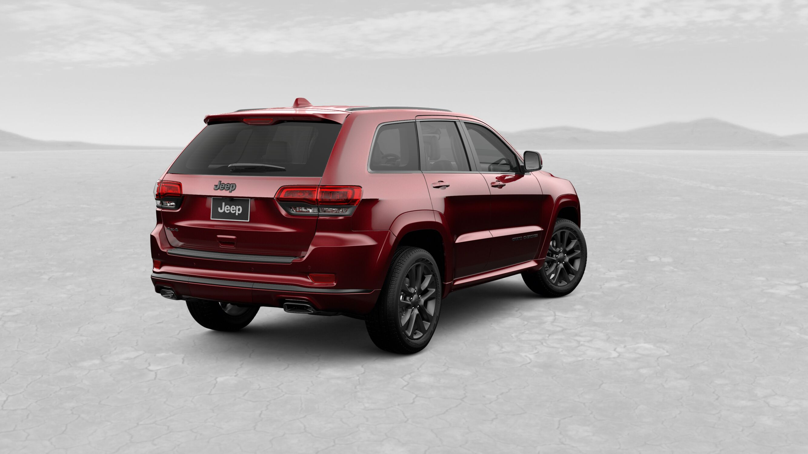 2019 Jeep Grand Cherokee High Altitude Red Exterior Rear View