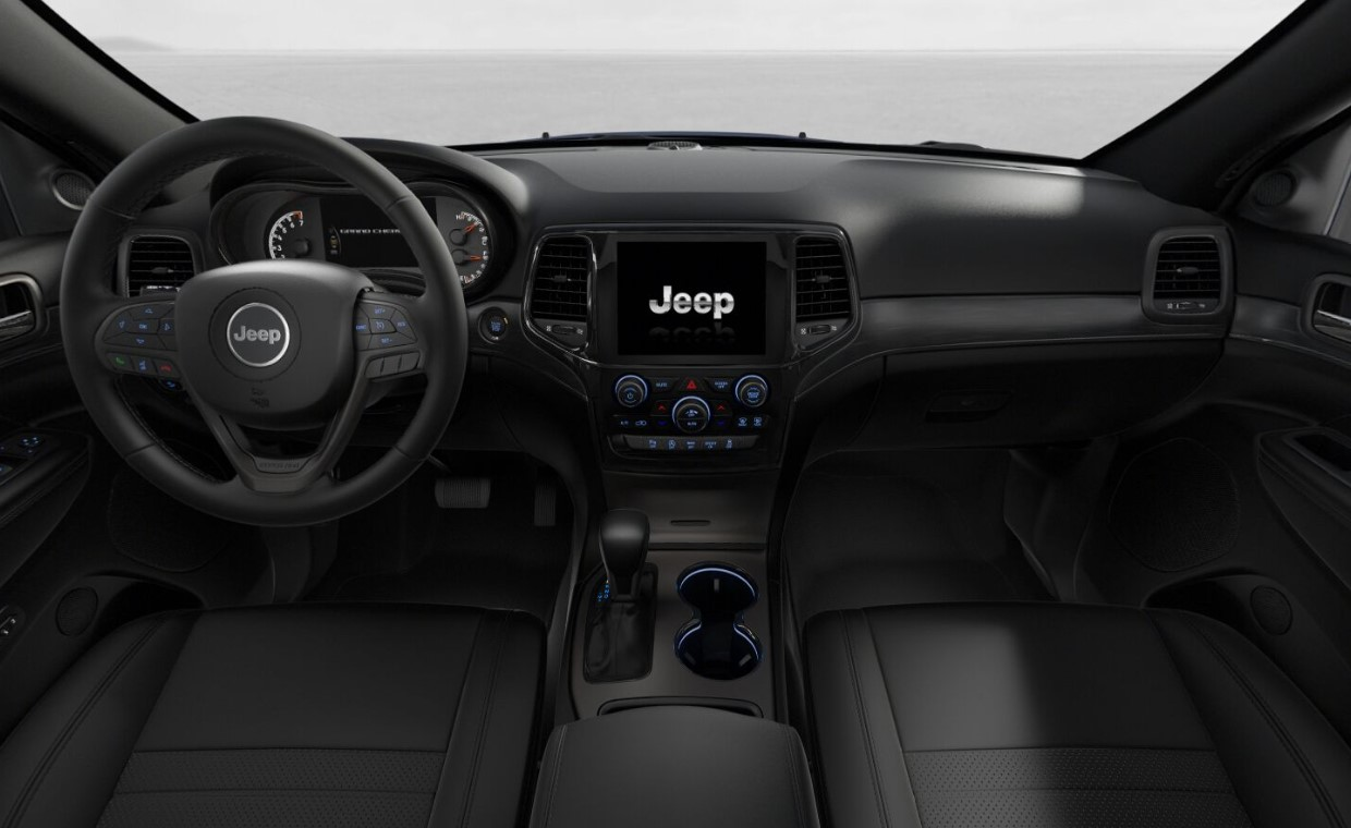 2019 Jeep Grand Cherokee Limited X Front Interior Dashboard Picture