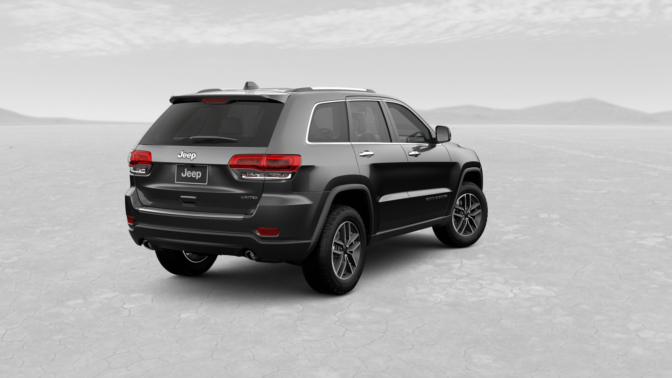 2019 Jeep Grand Cherokee Limited Gray Exterior Rear View