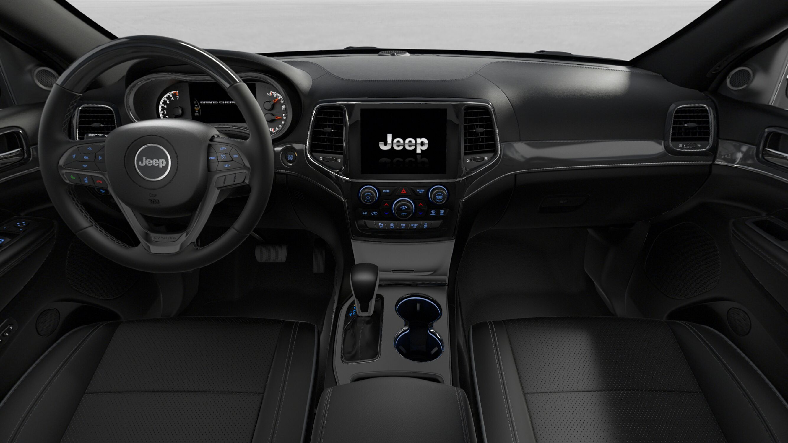 2019 Jeep Grand Cherokee Overland Front Interior Dashboard