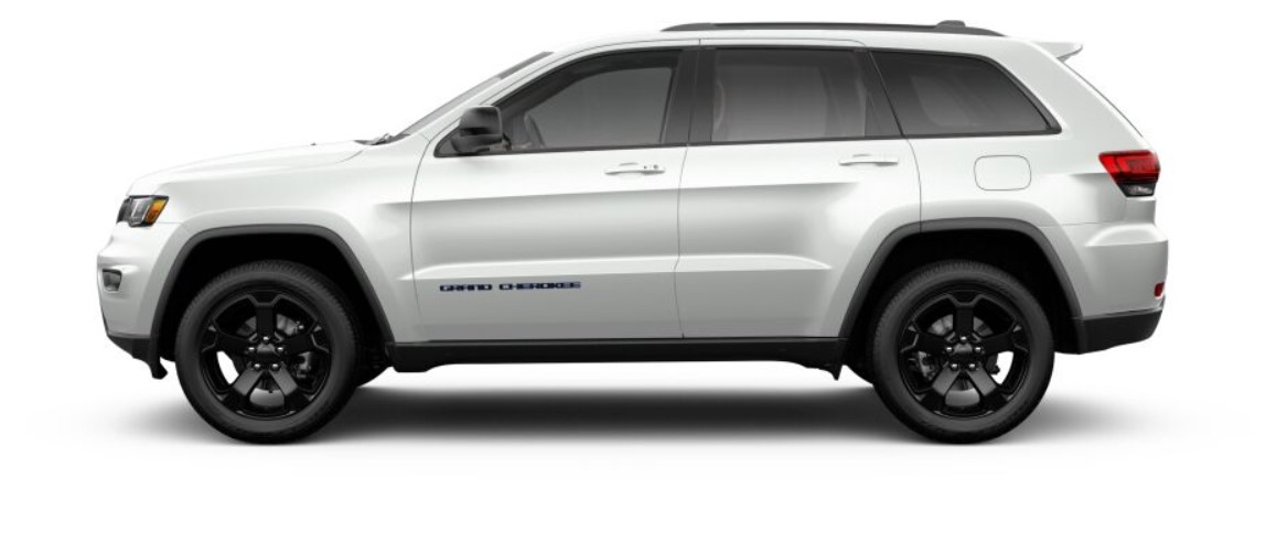2019 Jeep Grand Cherokee Upland Side White Exterior