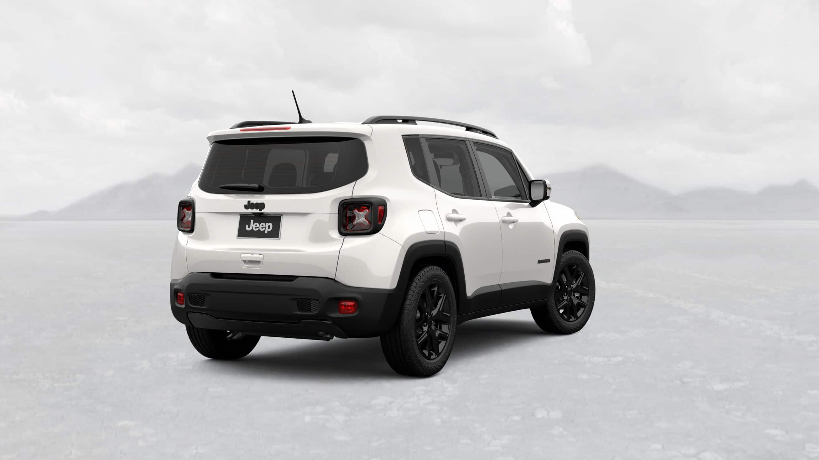 2019 Jeep Renegade Altitude White Exterior Rear Picture