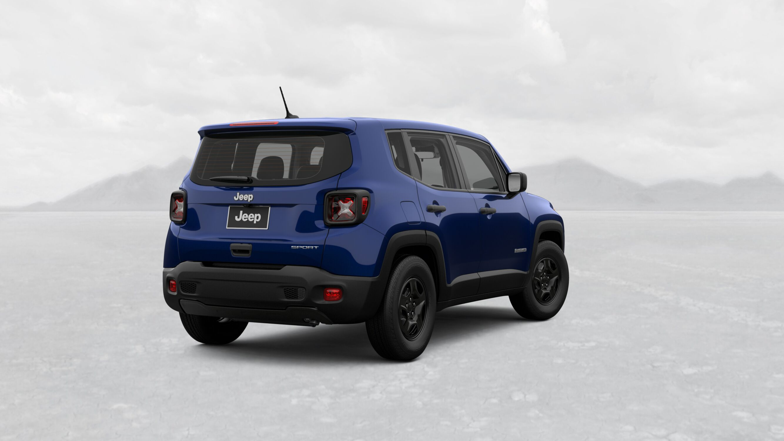 2019 Jeep Renegade Sport Jetset Blue Exterior Rear Picture