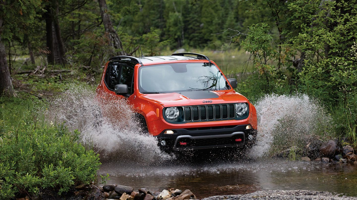 2019 Jeep Renegade Trailhawk Orange Exterior Front View