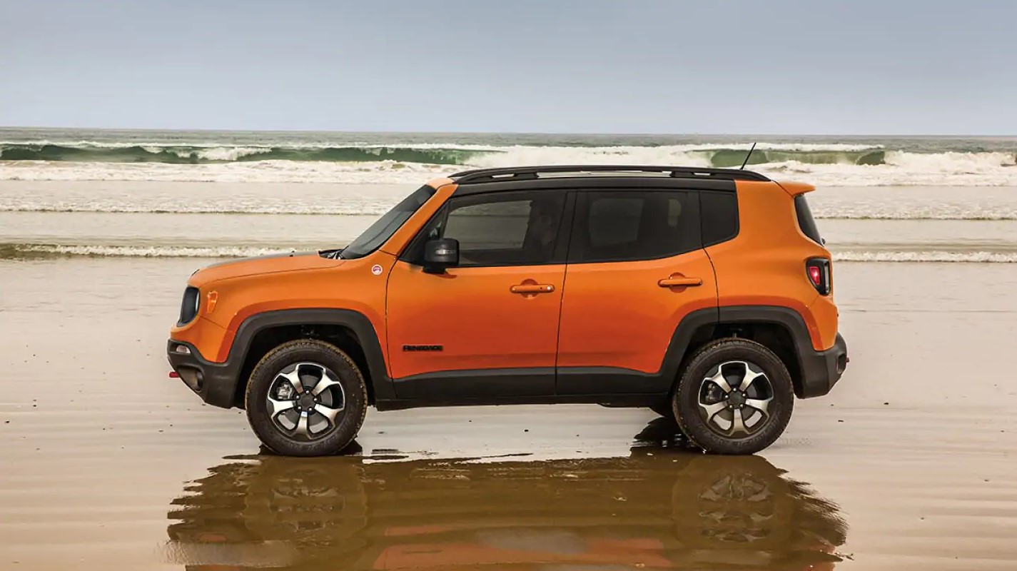 2019 Jeep Renegade Orange Side Exterior