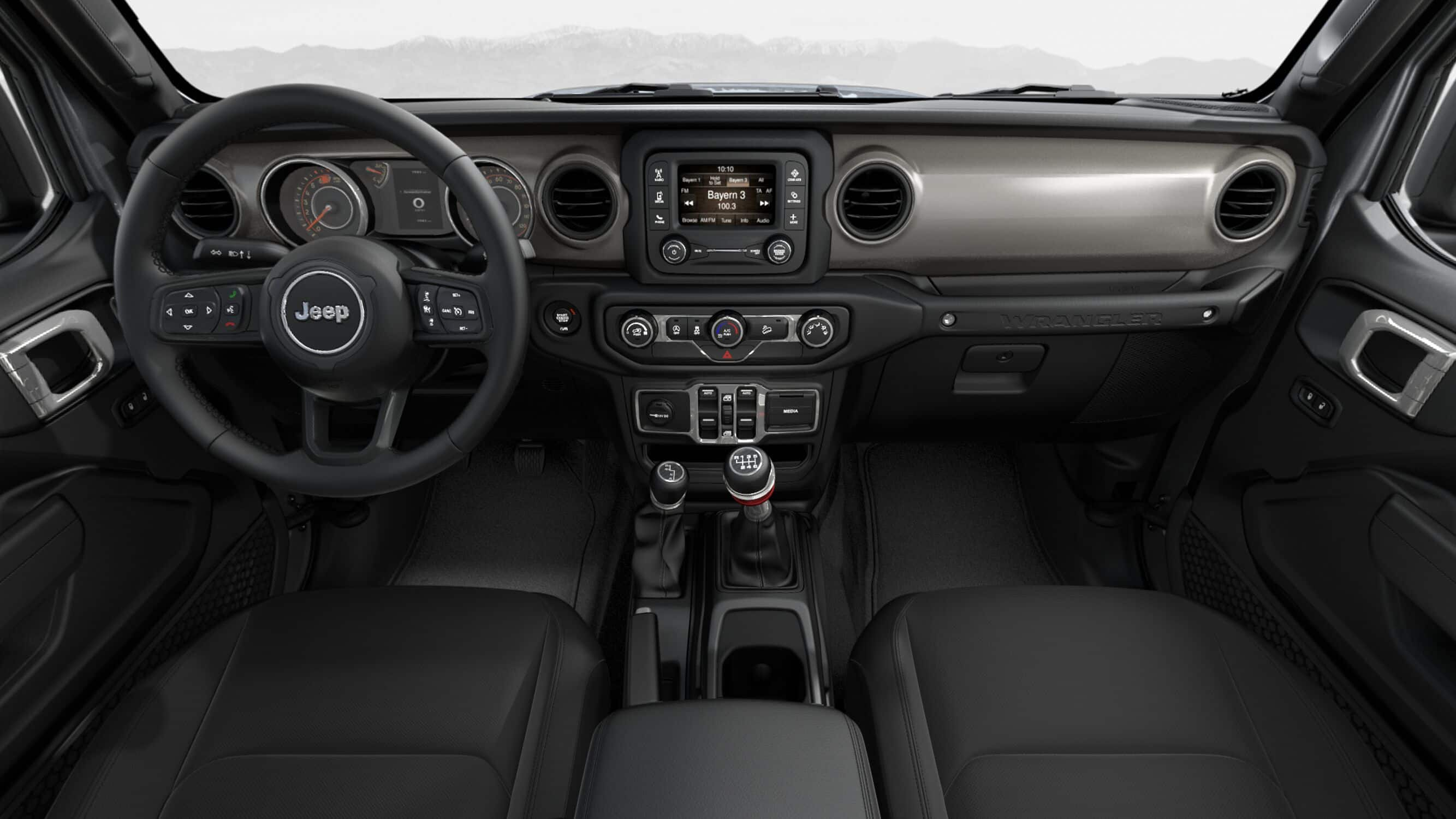 2019 Jeep Wrangler Unlimited Sport S Black Front Interior Picture