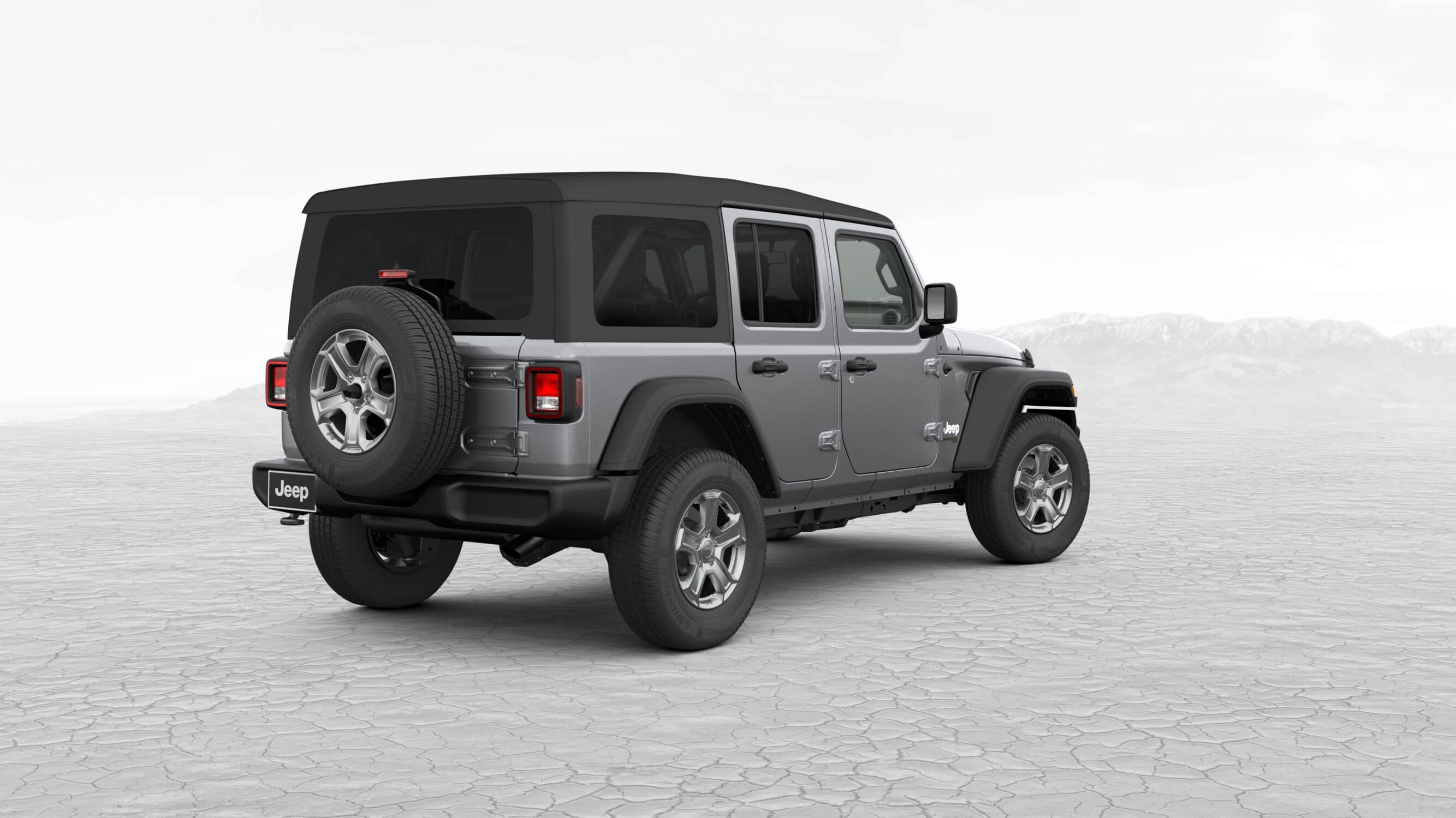 2019 Jeep Wrangler Unlimited Sport S Silver Exterior Rear Picture