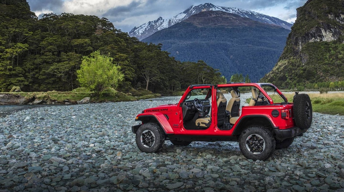 2019 Jeep Wrangler Unlimited Red Exterior Removed Doors