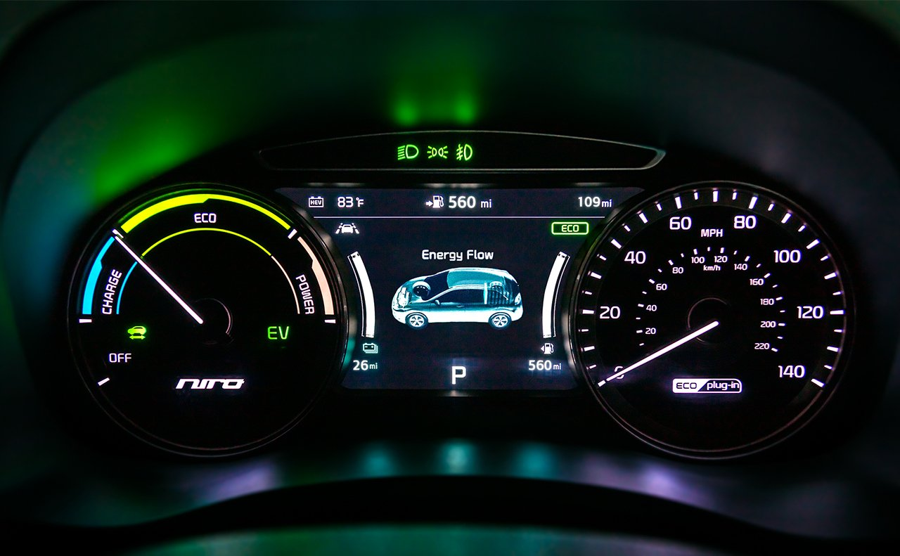 2019 Kia Niro Plug-In Hybrid Interior Cluster Display Picture