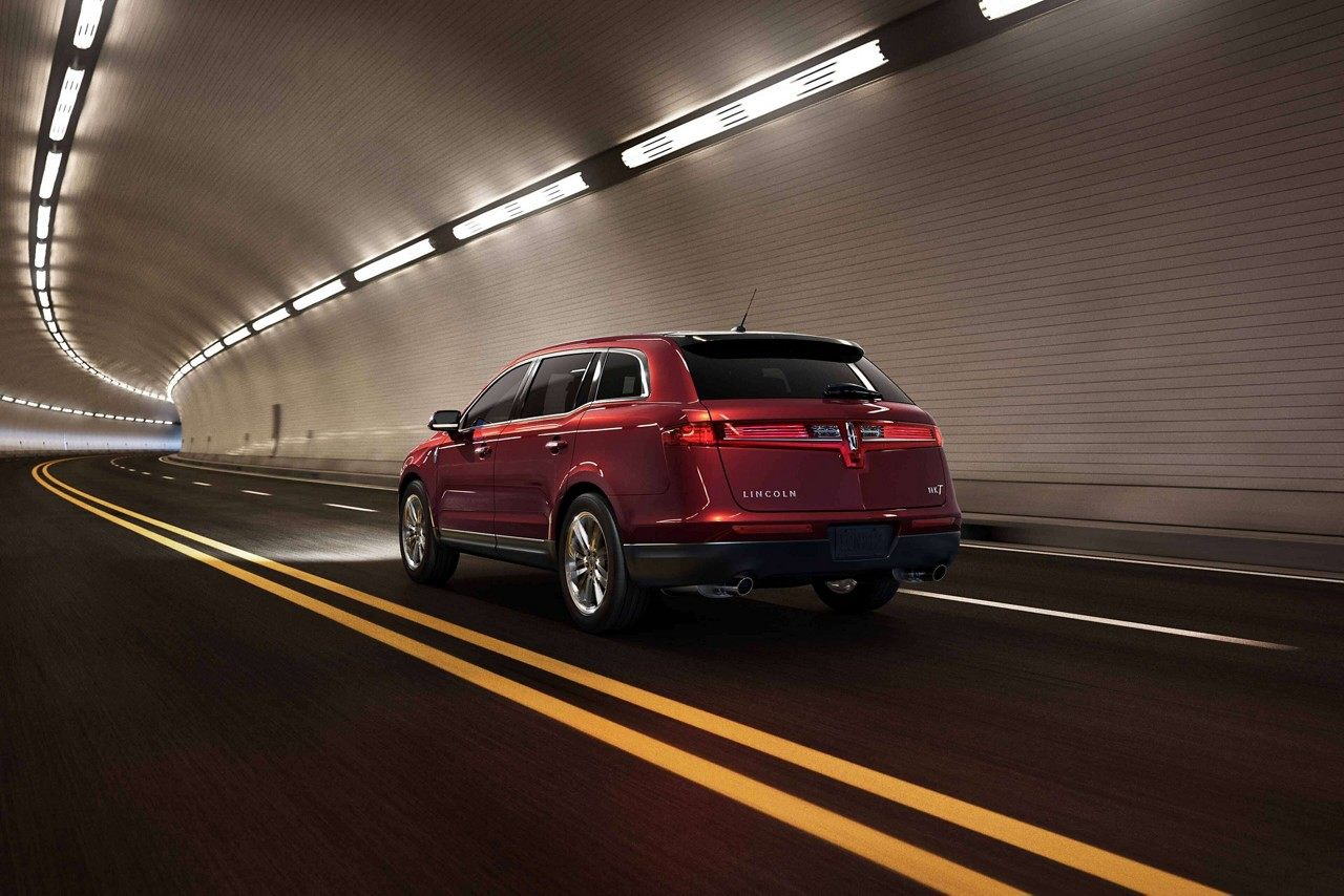 2019 Lincoln MKT Rear Driving Red Exterior