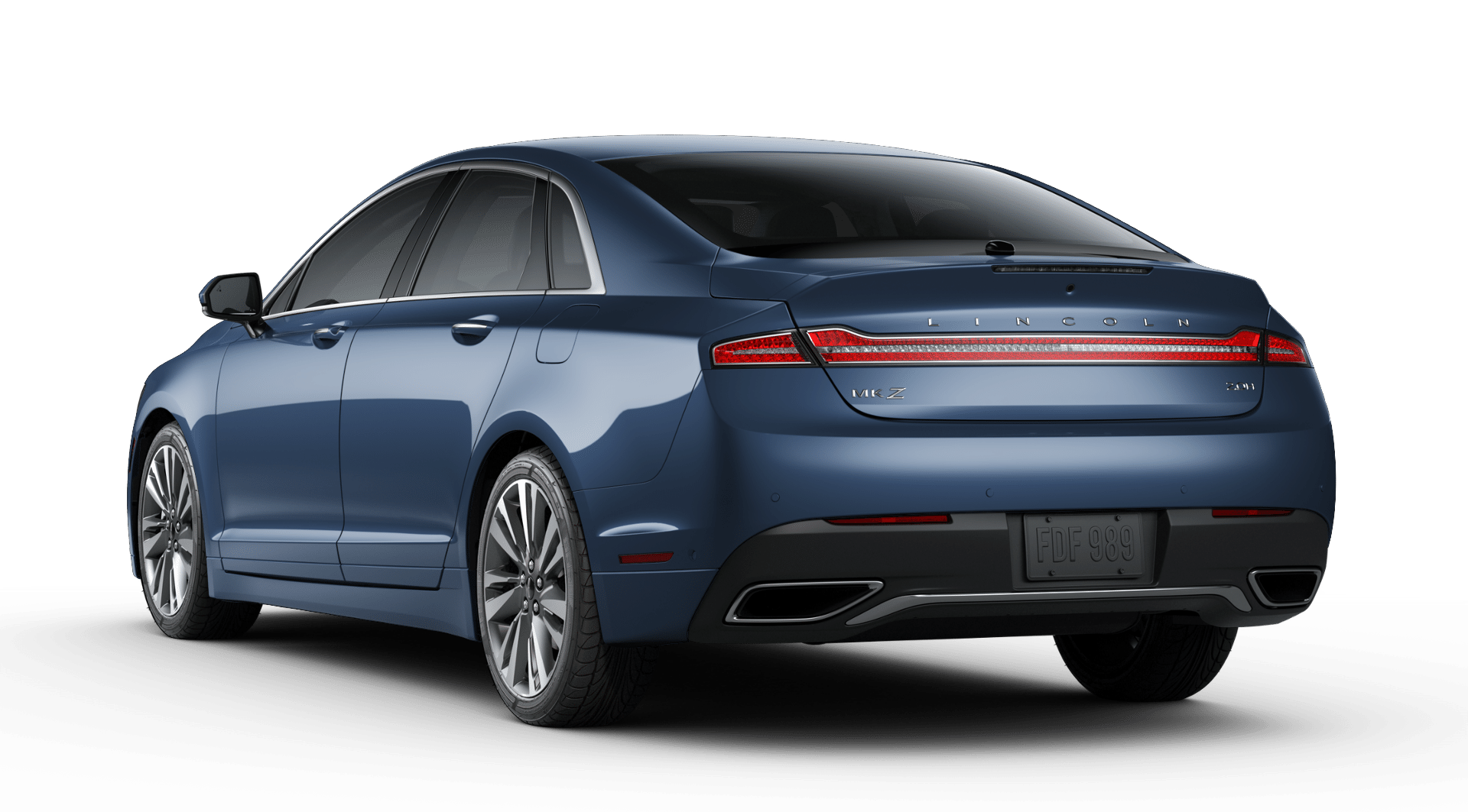 2019 Lincoln MKZ Hybrid Reserve II Blue Exterior Rear View Picture.png