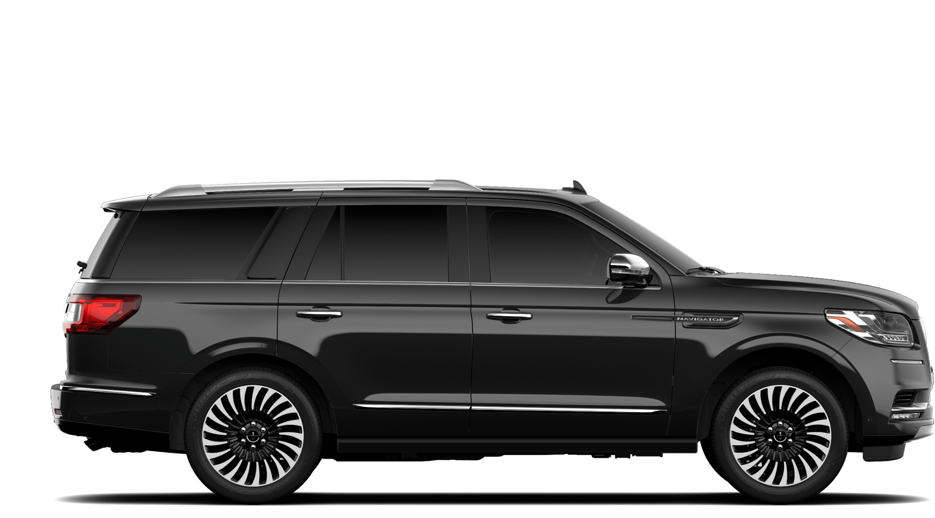 2019 Lincoln Navigator Black Label Black Exterior Side Profile