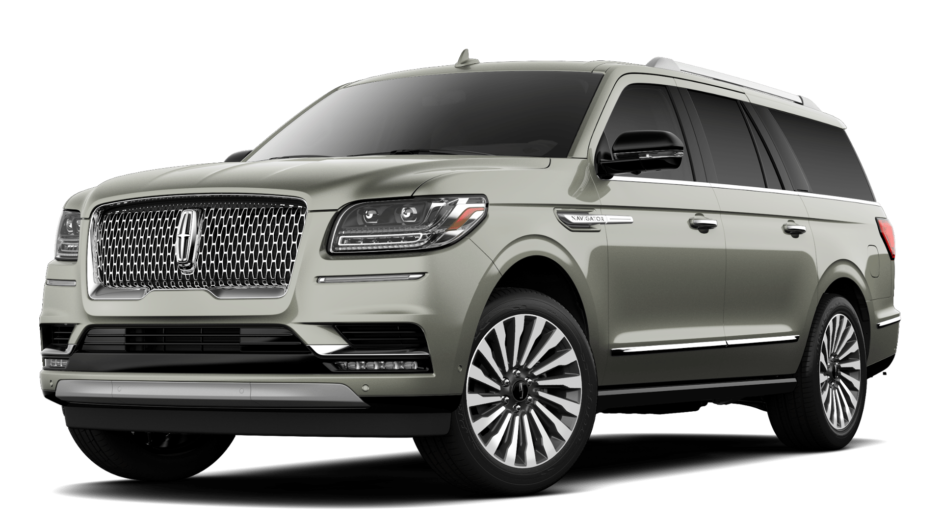 2019 Lincoln Navigator Reserve L Silver Jade Exterior Front Picture.png