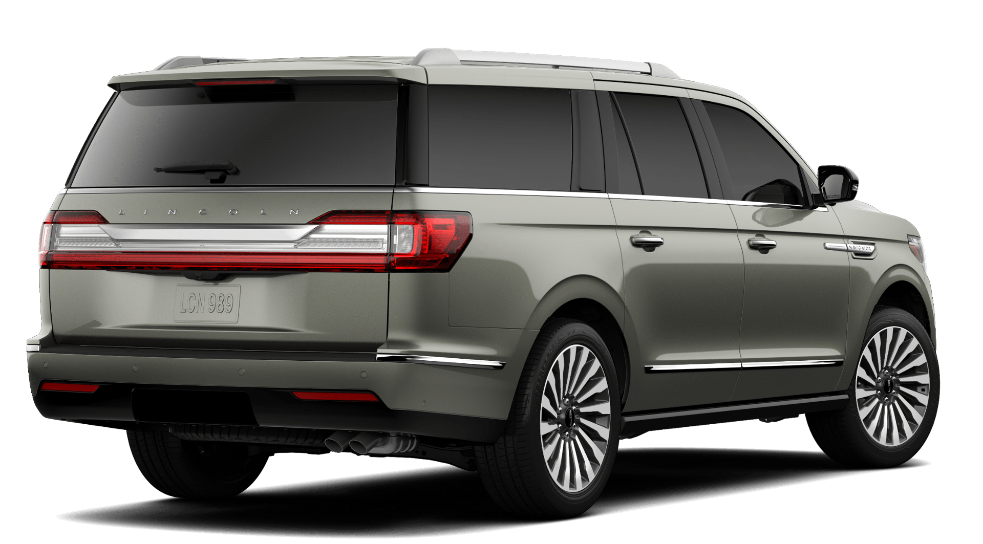 2019 Lincoln Navigator Reserve L Silver Jade Exterior Rear Picture.png