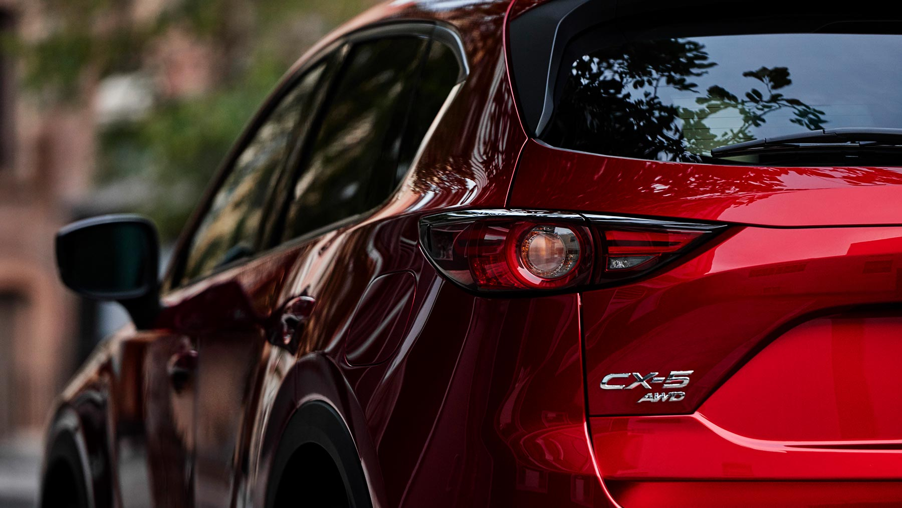 2019 Mazda CX-5 Sport Red Exterior Close-up Side Picture