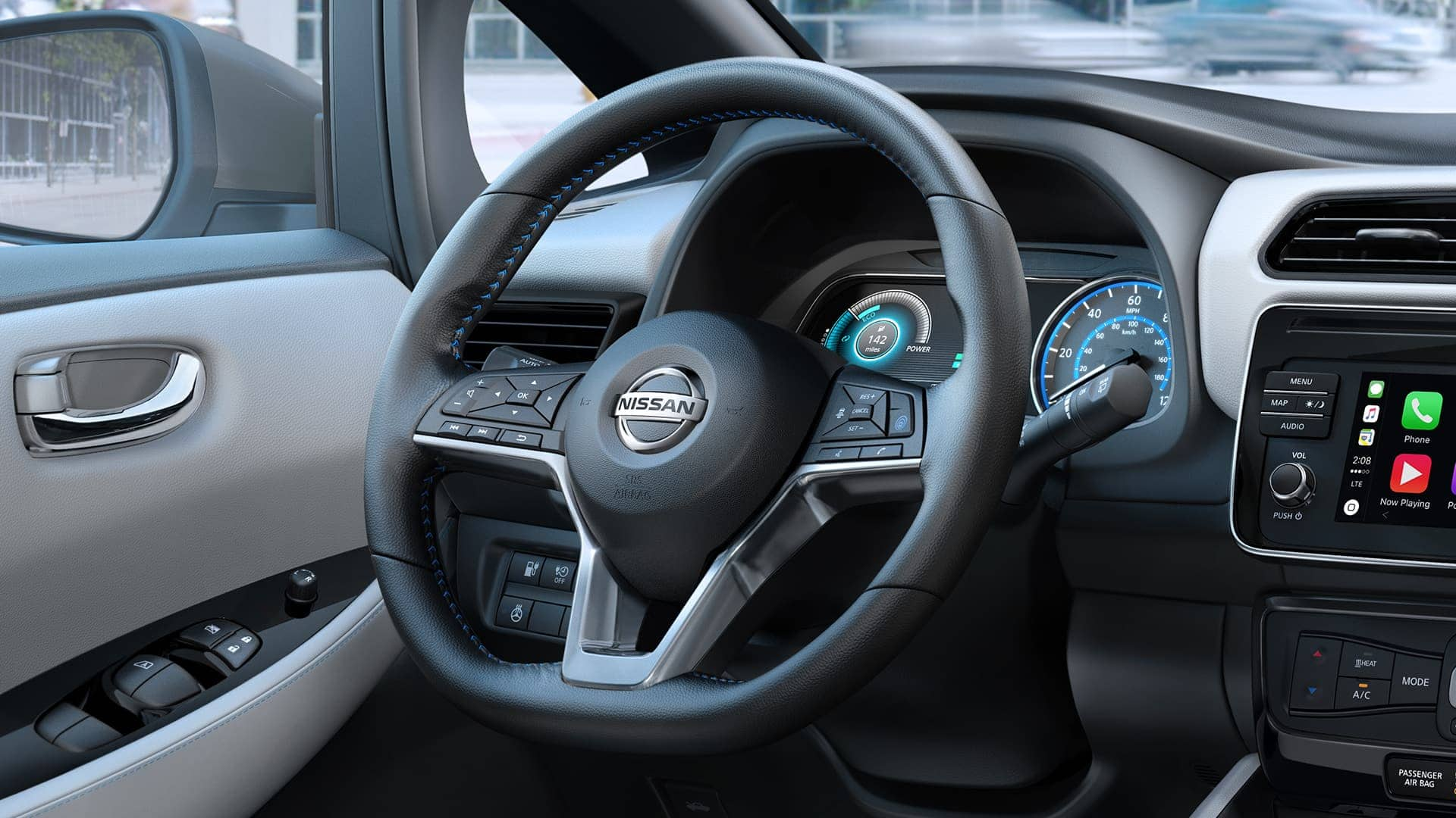 2019 Nissan Leaf Gray Interior Seating Picture
