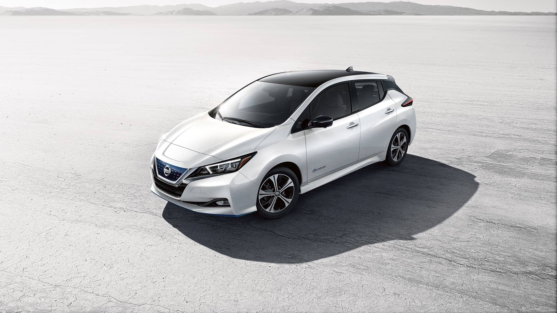2019 Nissan Leaf White Exterior Side Picture