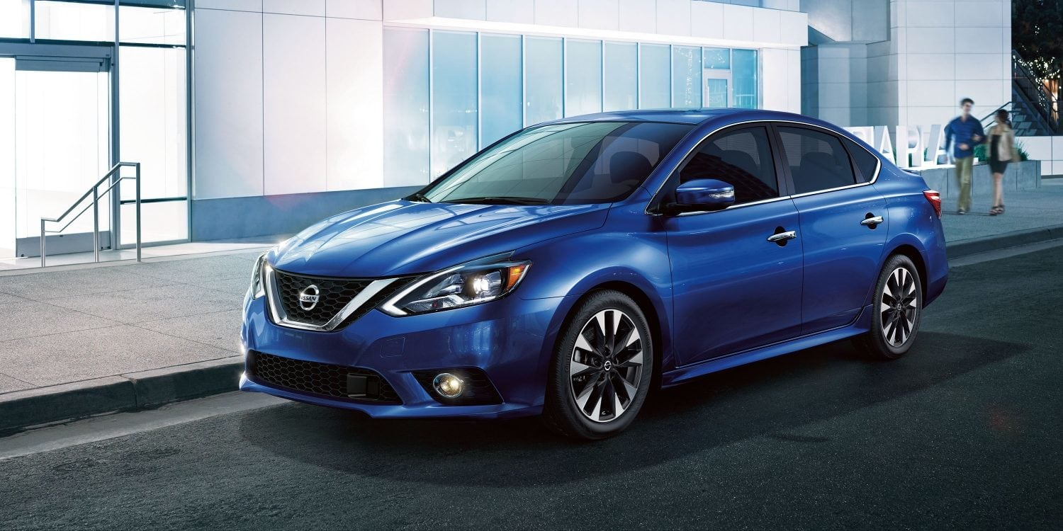 2019 Nissan Sentra Blue Front Parked Exterior