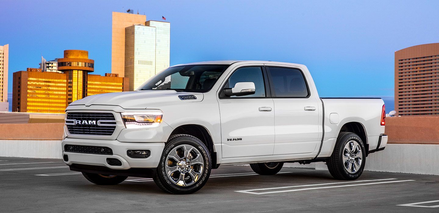 2019 Ram 1500 Big Horn Front White Exterior