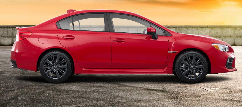 2019 Subaru WRX Base Red Exterior Side Profile