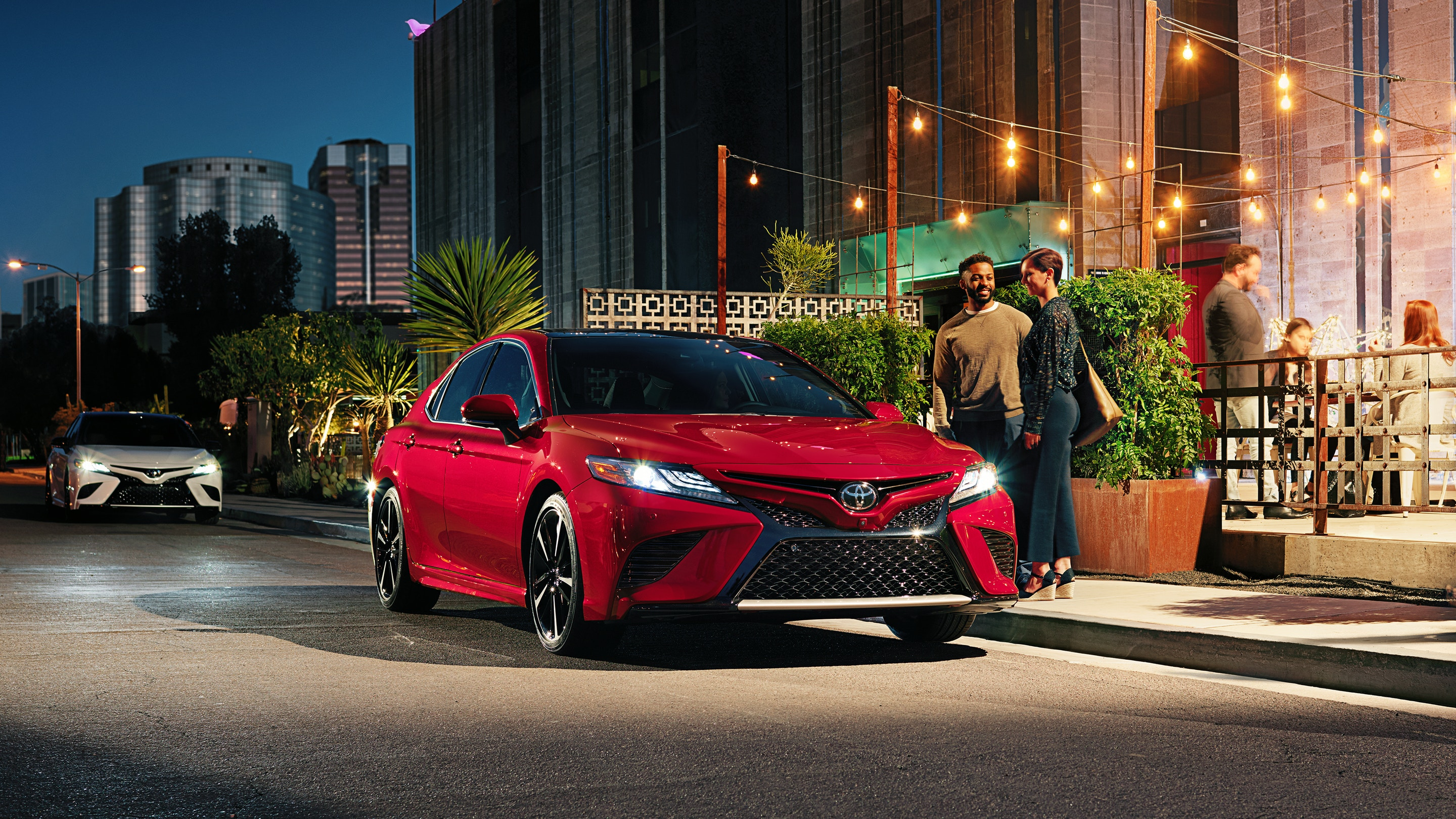 2019 Toyota Camry Front Red Exterior