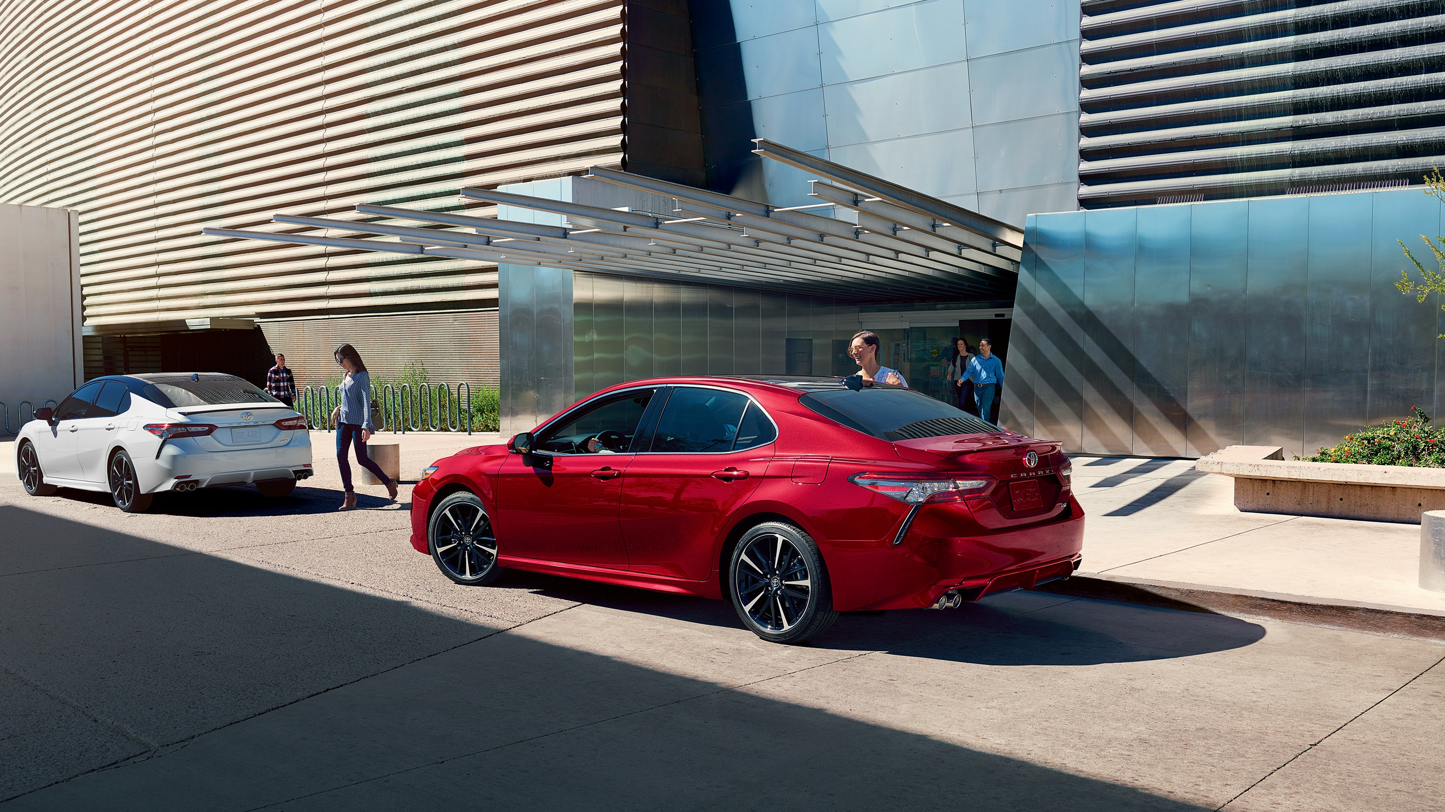 2019 Toyota Camry Parked Red Exterior