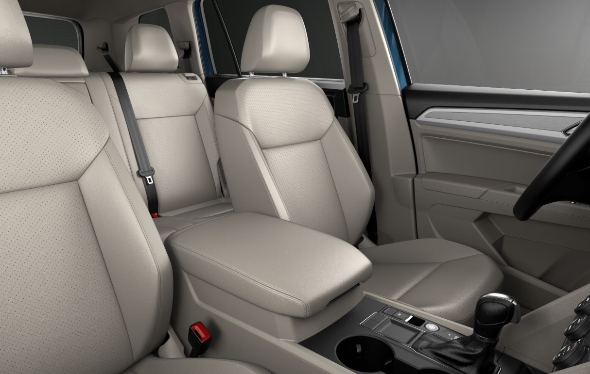 2019 Volkswagen Atlas SE White Seating Interior