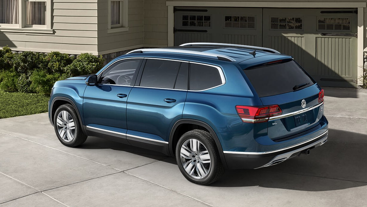 2019 Volkswagen Atlas Blue Rear Exterior