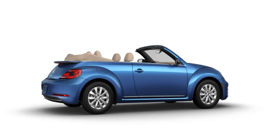 2019 Volkswagen Beetle Convertible S Silk Blue Exterior Side View
