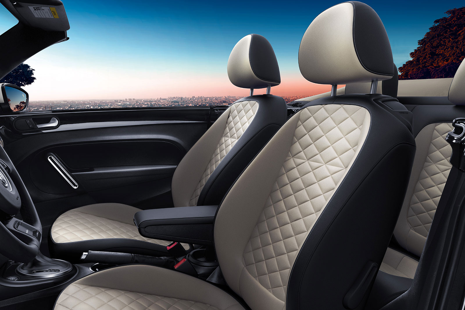 2019 Volkswagen Beetle Convertible Interior Diamond-Stitched Seating