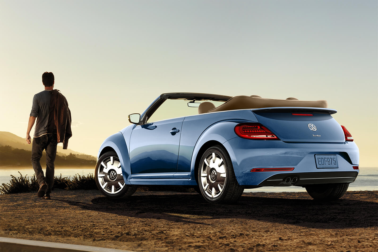 2019 Volkswagen Beetle Convertible Silk Blue Metallic Exterior Rear